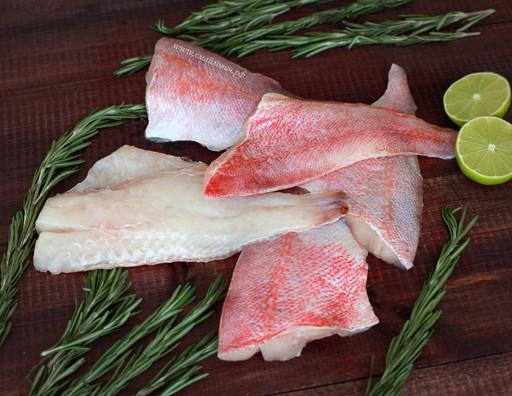 ОКУНЬ морской филе на коже ( коробка 10 кг.)