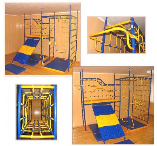Детский спортивный комплекс «7-опорный со скалодромом»