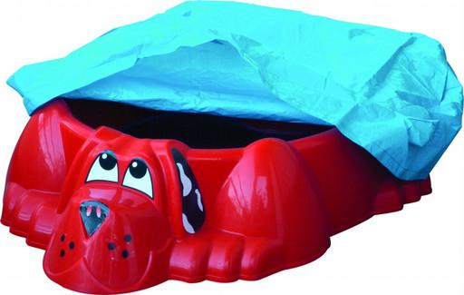 Детская песочница-бассейн «Собачка с покрытием» 431