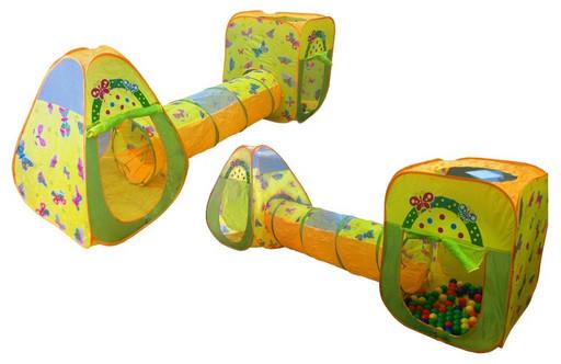 2 игровых домика с туннелем + 100 шариков CBH-24