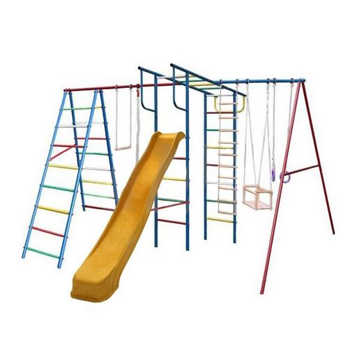 Детский спортивный комплекс (ДСК) «Вертикаль-А+П» дачный МАКСИ с горкой 3,0 м
