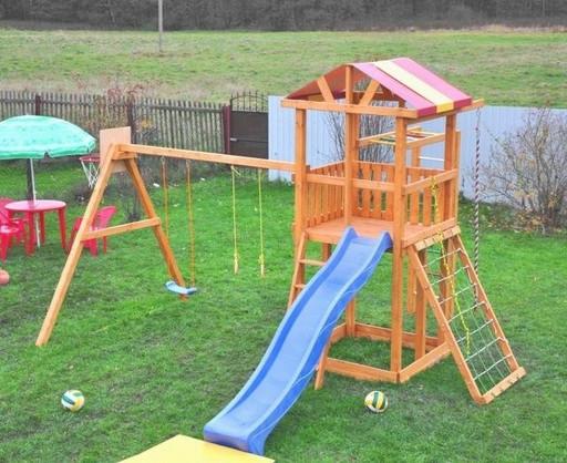 Детская деревянная площадка для дачи «Мадрид 26»