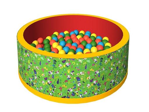 Сухой бассейн с шариками «Веселая полянка» ДМФ-МК-02.51.02 зеленый