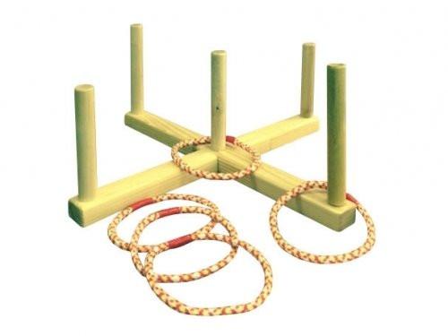 Кольцеброс деревянный с 5 кольцами