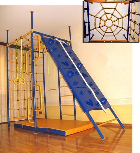 Детский спортивный комплекс «5-опорный со скалодромом»