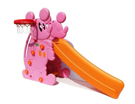 Детская горка «Мышка» PS-027 розовая
