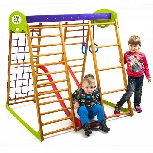 Детский спортивный комплекс для квартиры «Карамелька Plus 1»