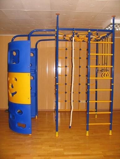 Детский спортивный комплекс «Веселый Непоседа» 5-опорный с паутиной и башней