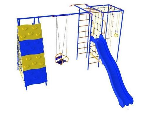 Уличный детский спортивный комплекс Модель «Радуга «ПЛЮС» (качели цепь/подшипник)