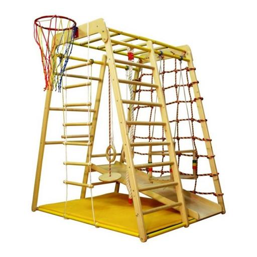 Детский спортивный комплекс (ДСК) Вертикаль «Веселый малыш Wood» горка из фанеры