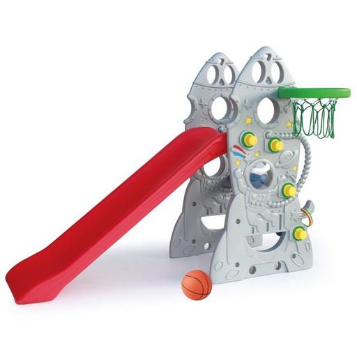 Горка «Ракета + баскетбольное кольцо» SL-18