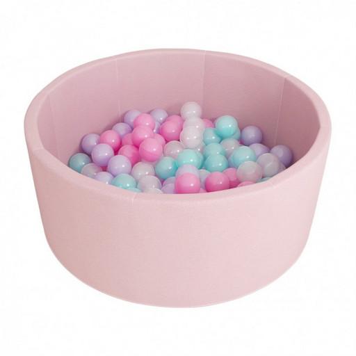 Сухой бассейн Airpool Романа ДМФ-МК-02.53.01 (розовый с розовыми шариками)