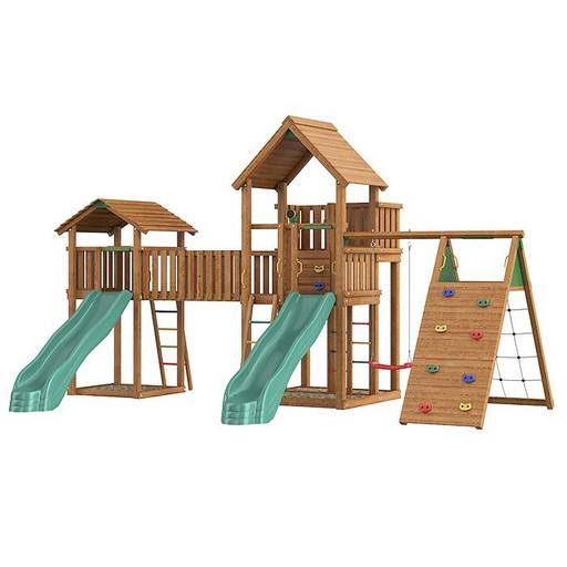 Детский городок Jungle Palace + bridge Link + cottage + climb