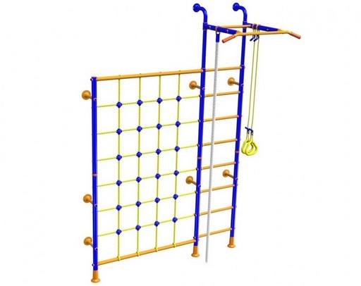 Детский спортивный комплекс «SOLID» с сеткой для лазания LINE-CENTER PLUS