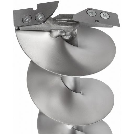 Титановый ледобур Ленинградский D 150 мм (2 ножа). Телескопическая ручка. Правое вращение.