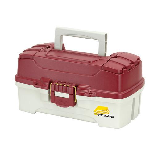 Ящик PLANO 6201-06 с одноуровневой системой хранения приманок и 2мя боковыми отсеками на крышке