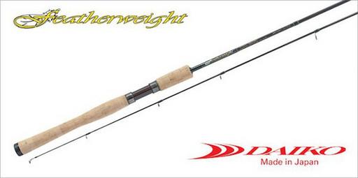 Удилище Featherweight FW762XUL (Daiko) cпиннинговое, дл.: 2,28 м, тест: 0,5-5 г, строй быстрый
