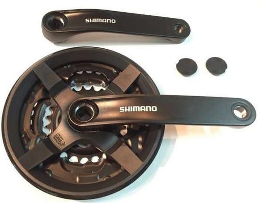 Система Shimano TY301, 175мм, Кв, 48/38/28, с защитой, черн, б/уп