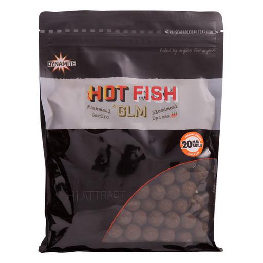 Бойлы тонущие DYNAMITE BAITS Hot Fish & GLM 20 мм. 1 кг.
