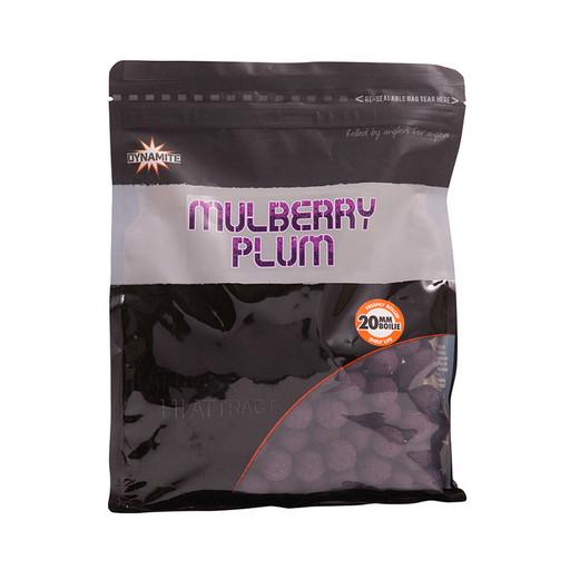 Бойлы тонущие DYNAMITE BAITS Mulberry Plum Hi-Attract 20 мм. 1 кг.