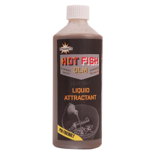 Аттрактант DYNAMITE BAITS Liquid Attractant Hot Fish & GLM 500мл.