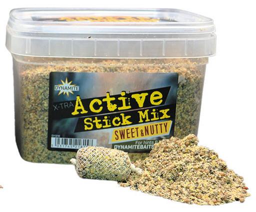 Смесь Dynamite Baits Xtra Active Stick Mix - Sweet & Nutty 650гр.