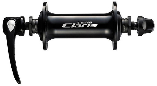 Втулка передн. Shimano Claris, 2400, 36 отв, QR 129мм, цв. черн