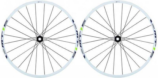 Комплект колес Shimano, MT15A, передн. и задн, 29', C.Lock, QR, цв. бел/зел