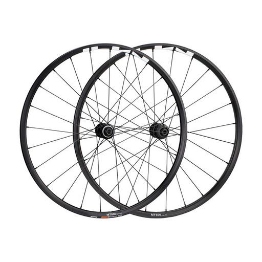 """Комплект колес Shimano, MT-500, передн. и задн., QR-R 173мм, 29"""", для 11ск., C.Lock, OLD 100/135, цв. черный"""