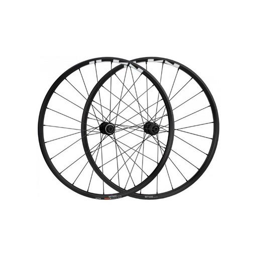 """Комплект колес Shimano, MT-500, передн. и задн., F:15/R12мм E-THRU, 27,5"""", для 11ск., C.Lock, OLD 100/142, цв. черный"""