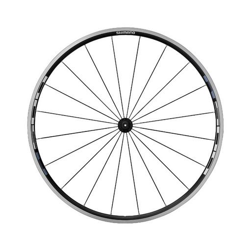 """Колесо Shimano, R501, 28"""", переднее, клинчер, плоск. спицы,  с об. лен, цв. черн."""