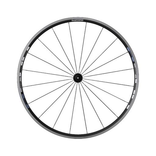 "Колесо Shimano, R501A, 28"" заднее, 8/9/10 ск. клинчер, плоск. спиц, с об. лен, цв. черн."