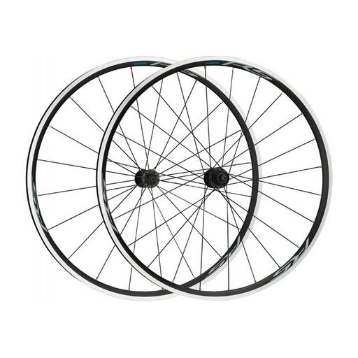 """Комплект колес Shimano, RS100, 28"""", передн. и задн, для 10-11ск, клинчер, OLD 100/130мм, с об. лен, цв. черн."""