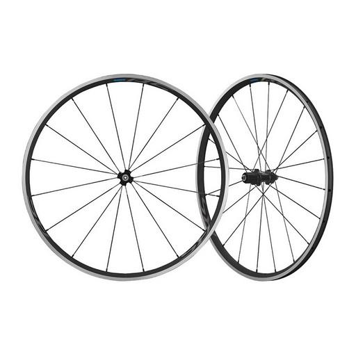 """Комплект колес Shimano, RS300, 28"""", передн. и задн, для 10-11ск, клинчер, OLD 100/130мм, с об. лен, цв. черн."""