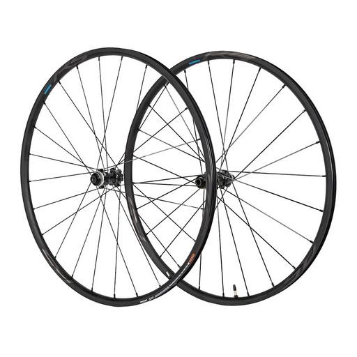 Комплект колес Shimano, RS370, пер. задн, 10-11ск, клинчерн. под диск. торм. C.Lock, под полые оси 12мм, OLD 100/142цв. черн
