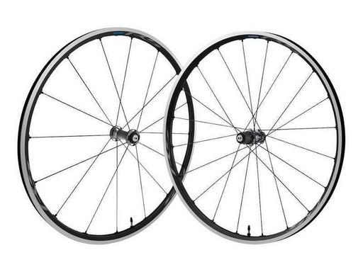 Комплект колес Shimano, RS500, пер. задн, 10-11ск, клинчерн. QR, цв. темно-серый