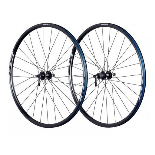 Комплект колес Shimano, RX010, пер. задн, 10-11ск, C.Lock, 622-17C, QR, 135ммOLD, цв. черный