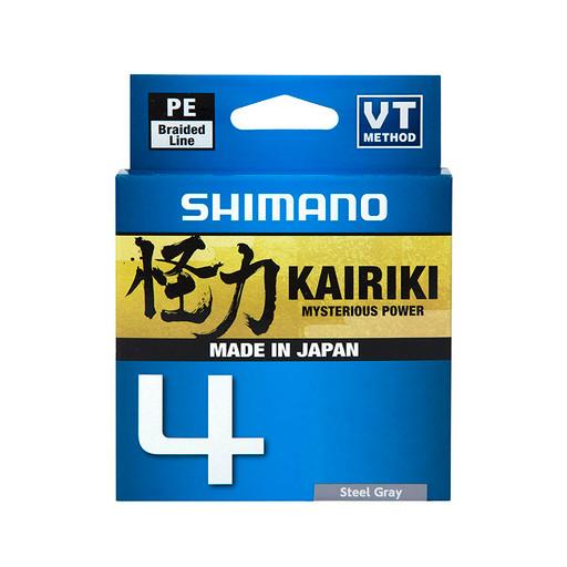 Леска плетёная SHIMANO Kairiki 4 PE 150 м серая 0.315 мм 29.9 кг