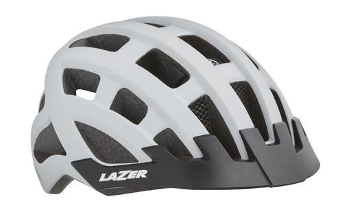 Шлем вел-й Lazer Compact dlx Mips цв. мат. бел. разм. U