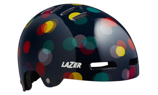 Шлем вел-й Lazer Kids Street+ JR цв. черн. огни разм. U
