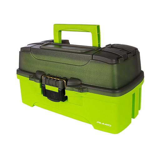 Ящик PLANO 6211 с 1 ур. системой хранения приманок и двумя боковыми отсеками на крышке, ярко-зеленый