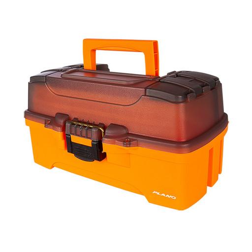 Ящик PLANO 6221 с 2 ур. системой хранения приманок и двумя боковыми отсеками на крышке ярко-оранж