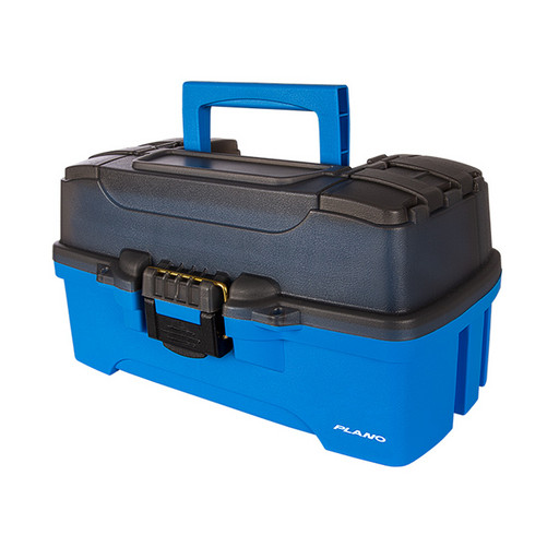 Ящик PLANO 6231 с 3 ур. системой хранения приманок и двумя боковыми отсеками на крышке ярко-синий