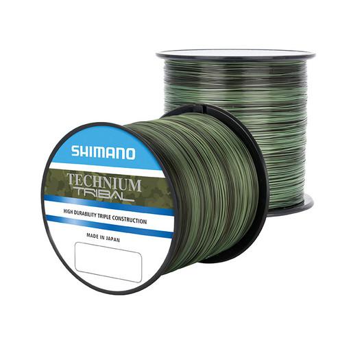 Леска SHIMANO Technium Trib 1250 м комуф. зеленая 0,285 мм PB 7,5 кг