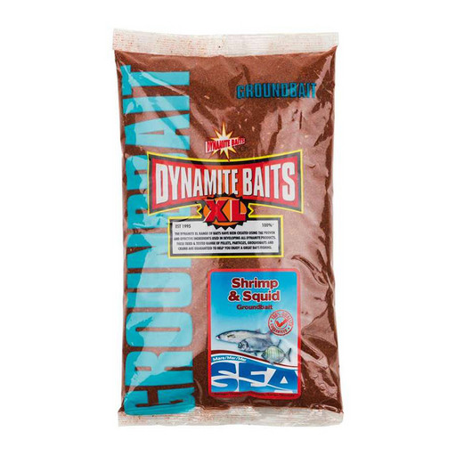 Прикормка DYNAMITE BAITS Sea Groundbait Shrimp & Squid 1 кг