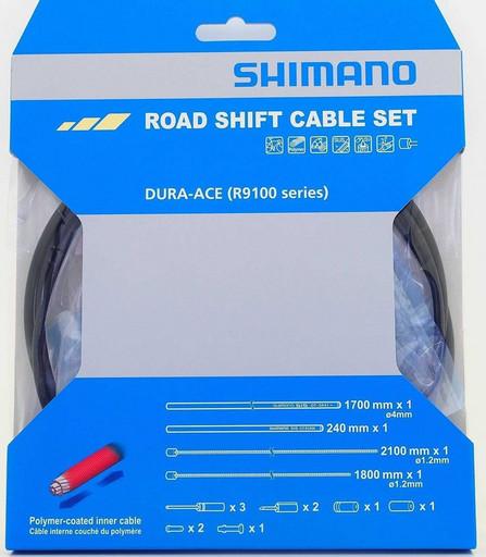Трос+оплетка перекл Shimano Dura-Ace, R9100, тр:1.2X2100мм/1800мм полимерн. покрыт., оплетка, конц-ки