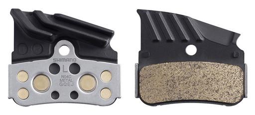 Торм. колодки Shimano, для диск т., N04C, металл с кулером, пара, с пружин