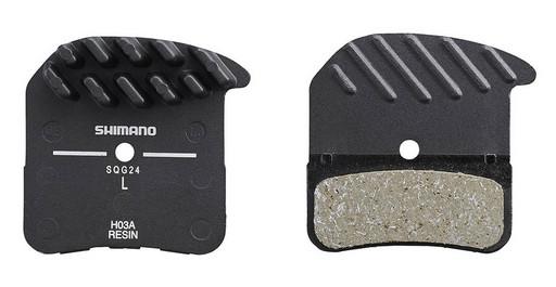 Торм. колодки Shimano, для диск т., H03A, пласт, с радиатором, пара, с пружин, с шплинтом