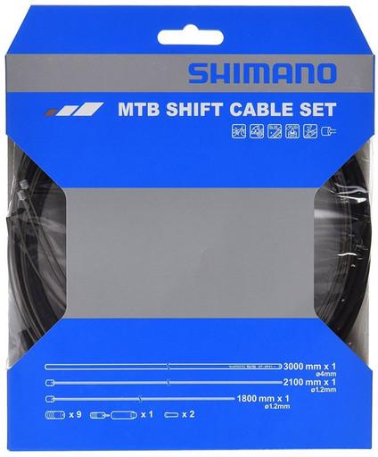 Трос+оплетка перекл Shimano, SP41, опл. 3000мм черн., тр:1.2X1800/2100мм нерж., конц
