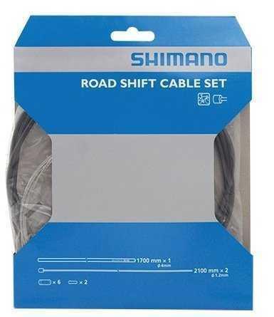 Трос+оплетка перекл Shimano, SP40, опл. 1700мм черн., тр:1.2X2100мм нерж. x (2шт), конц